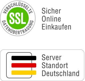 Schließanlagen sicher einkaufen + SSL Verschlüsselung + Serverstandort Deutschland Siegel